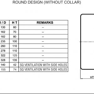Round Design(Without Collar)